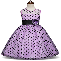 New 2017 Fashion Princess Summer Girl Dress Classic White Black Polka Dots Children Dresses For Little