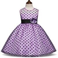Nuevos niños moda princesa Summer Girl vestido clásico blanco negro lunares niños Vestidos para niña Tutu Vestidos