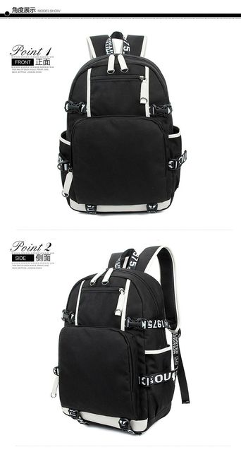 One Piece Monkey D Luffy Team Skull Chopper Backpack School Bag