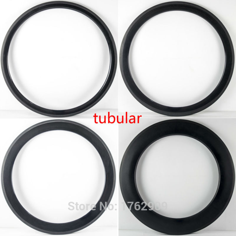 1pcs New 700C 38 50 60 88mm tubular rim Road bicycle 3K UD 12K full carbon fibre bike wheels rim light 25 23mm width Free ship
