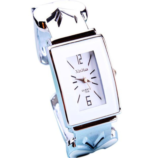 Fashion Women Bracelet Watch Women's Square Bangle Bracelet Analog Wrist Watch A