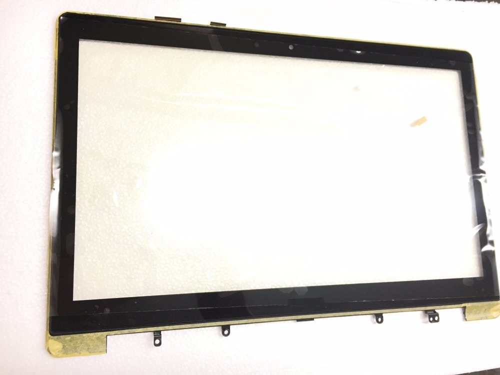 15.6 inch Glass Touch Screen for Asus Vivobook S551L S551LN S551LB LCD Touch Screen Digitizer with Frame Lens 13 3 inch touch screen digitizer glass lcd display assembly replacement for asus vivobook s300 s300c s300ca s301 s301c s301ca