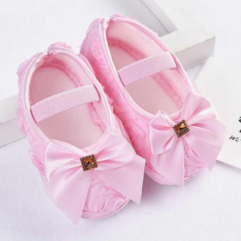 2019 bebé niña Zapatos niño Zapatos Niña chico bebé niña rosa Bowknot banda elástica recién nacido caminando Zapatos de suela suave zapatillas de deporte bendición zapatos, zapatos de bautismo de niño, Zapatos Niño, Zapatos Niño, zapatos de @ 35