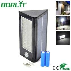 BORUiT 32 LEDs Motion Sensor Solar Wall Light Waterproof Outdoor Garden Solar Lamp Wall Sconce Yard Porch Lights Energy Saving