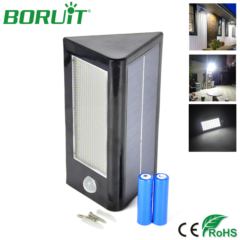 ᐃBoruit 32 LED sensor de movimiento solar luz de pared impermeable ...