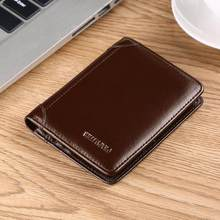 WilliamPOLO Brand Wallet Men's Genuine Leather clutch bag Slim Short Purse ID Cards Holder Ultrathin Photo Window Cash Pocket(China)