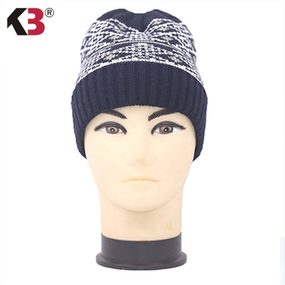 2016 New Christmas Hats Snowflakes Knitted Hat  with Top Ball Women Men Knitted Crochet Winter Ski Warm Hat Cap Snowflake Beanie 2017 winter women beanie skullies men hiphop hats knitted hat baggy crochet cap bonnets femme en laine homme gorros de lana