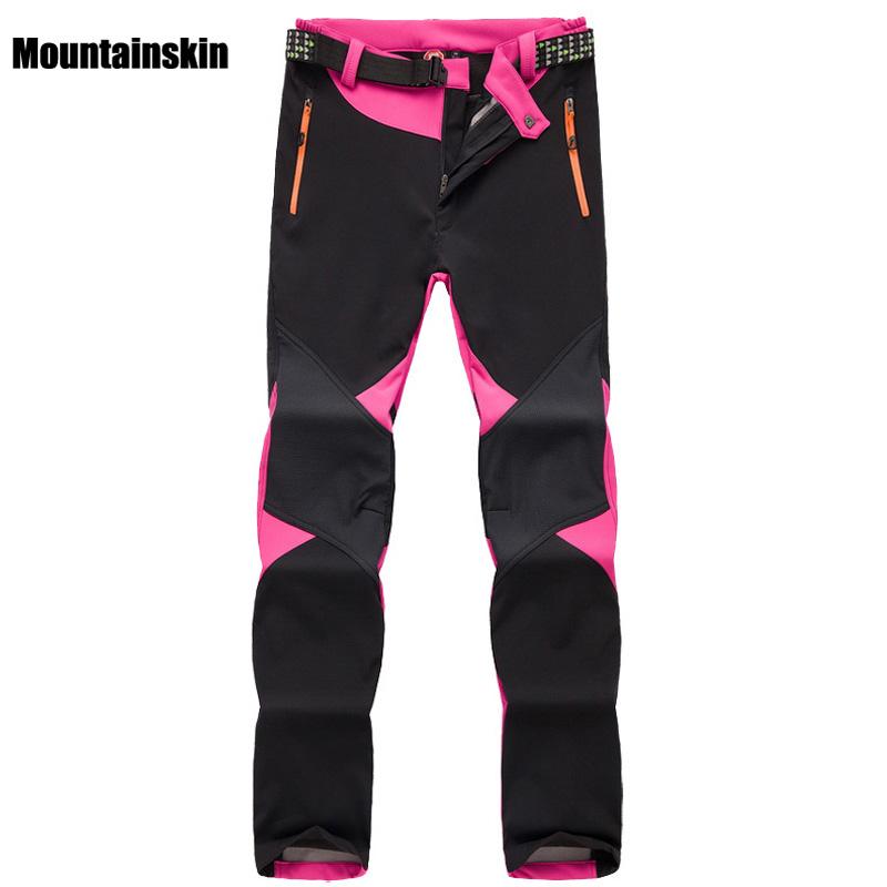 Prix pour Femmes Hiver Polaires Thermique Pantalon Sports de Plein Air Marque Vêtements de Randonnée Trekking Ski Camping Pantalon Femelle VA095