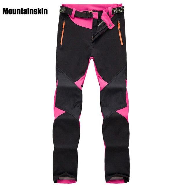 Pantalon dhiver en polaire pour femme, Softshell, vêtement de marque, sport de plein air, randonnée, Trekking, ski, Camping, VA095