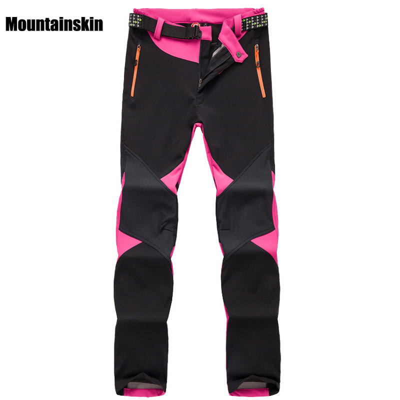 Women's Winter Fleece Softshell Thermal Pants Outdoor Sports Brand Clothing Hiking Trekking Skiing Camping Female Trousers VA095