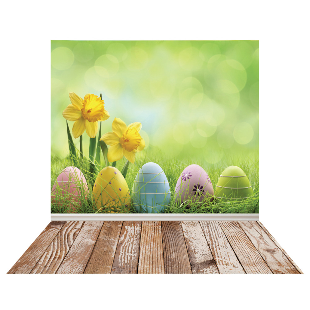 SJOLOON Easter photography background colorized eggs baby photography backdrops wood wall vinyl photo backdrop fond studio props easter day eggs in straw photography backdrops dry branches fotografia photo background for photo studio photography background