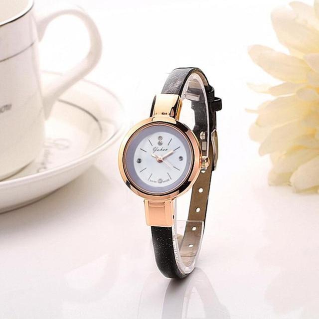 Gold Bracelet watches Women Luxury Brand Leather Strap Quartz watch For Women Dr