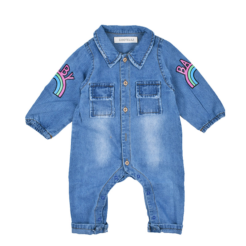 4bbda2dfd7b COOTELILI 60-90cm Fashion Printing Kids Girls Clothes Jumpsuit Newborn Baby  Romper Autumn Infant Boys Romper Costume