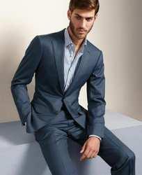 Tailed Made повседневное простой стильный свадебный мужской костюм 2 шт. (куртка + брюки галстук) Пром Terno Masculino Trajes De Hombre блейзер