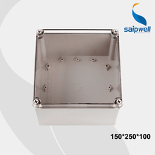 IP66 150*250*100mm PC Waterproof  Switch Box , Clear Cover Plastic Enclosure with CE Approval (DS-AT-2020)