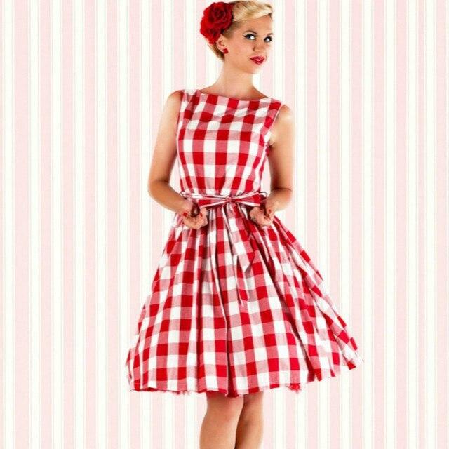 Audrey Hepburn vintage 50 s 60 s rockabilly vestido o cuello sin ...