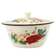 Variety of Styles Enamel Bowls, Large Capacity Fingertip Easy to Store Food  Kitchen Dinnerware 1 PCS