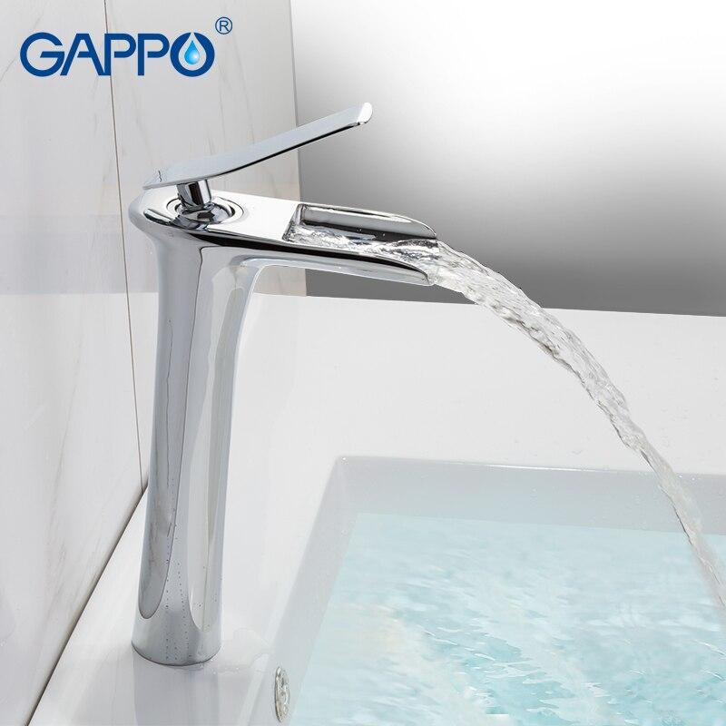 GAPPO Bassin Robinets cascade évier robinet bassin mélangeur évier robinets pont monté robinets d'eau salle de bains mélangeur d'eau robinets