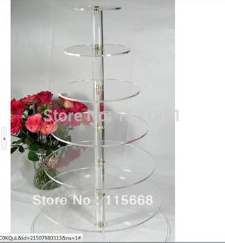 Wedding paper cups acrylic display festival round the wedding sugar cake tier 7 tier acrylic cupcake stand acrylic cupcake stand