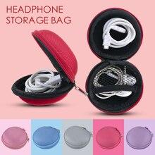 LASPERAL Мини молния Жесткий Чехол для наушников CanvasEarphone коробка для хранения USB кабель Органайзер переносной Кошелек для монет сумка для переноски