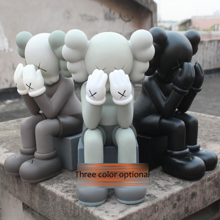 Crazy cheap price! Originalfake Kaws COMPANION PASSING THROUGH With orginal box PVC doll handcraft 16inch накидка для дивана passing through wheat fields