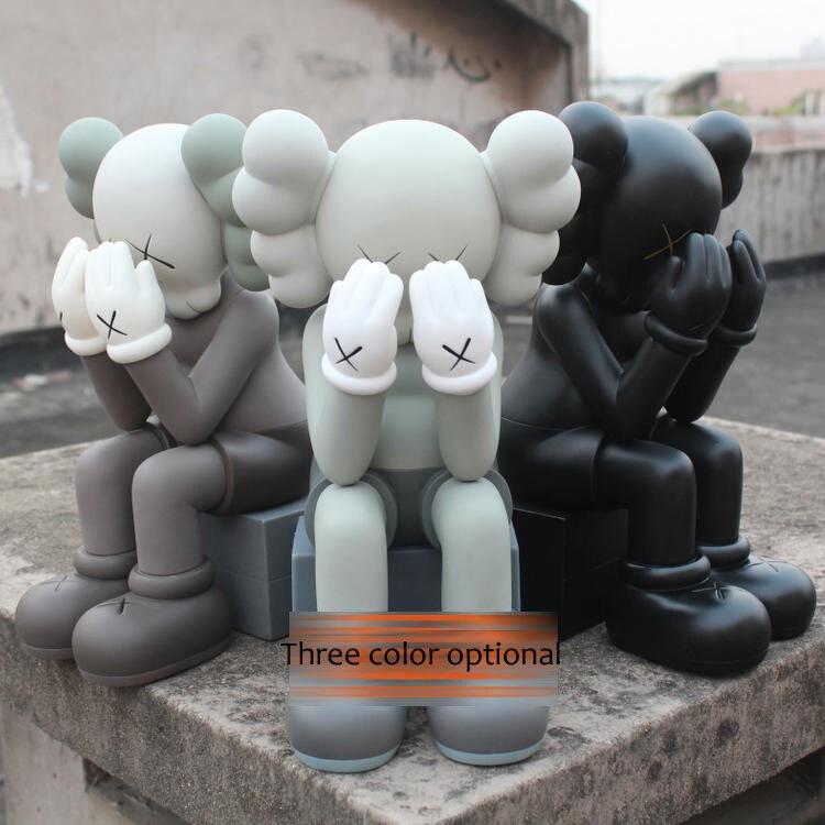 Fou pas cher prix! Originalfake Kaws COMPAGNON EN PASSANT par Avec la boîte originale PVC poupée artisanat 16 pouces