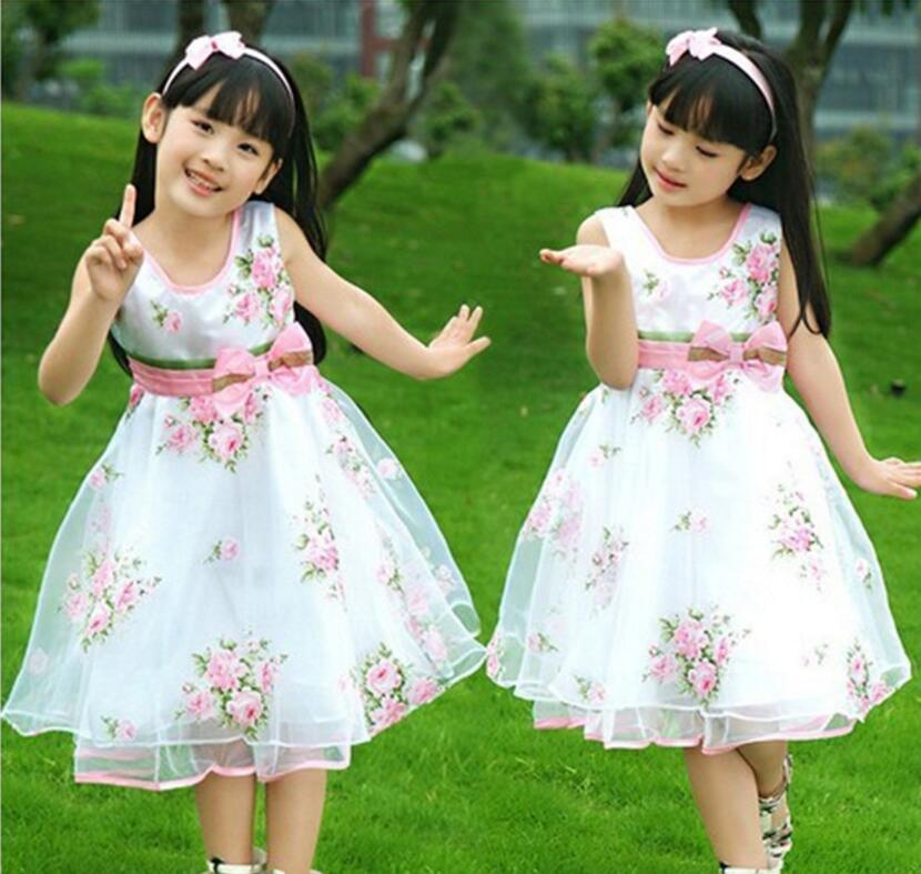 6321e64a19af00 Online Shop Kids Dresses For Girls 2017 New Design Flower Girl Dresses For  Weddings Child Birthday Party Gown Embroidery Organza HB2170