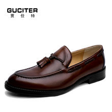 100 Genuine Calf Leather Loafer shoes Slip On mens shoes Genuine leather Penny Loafer Tassels handmade