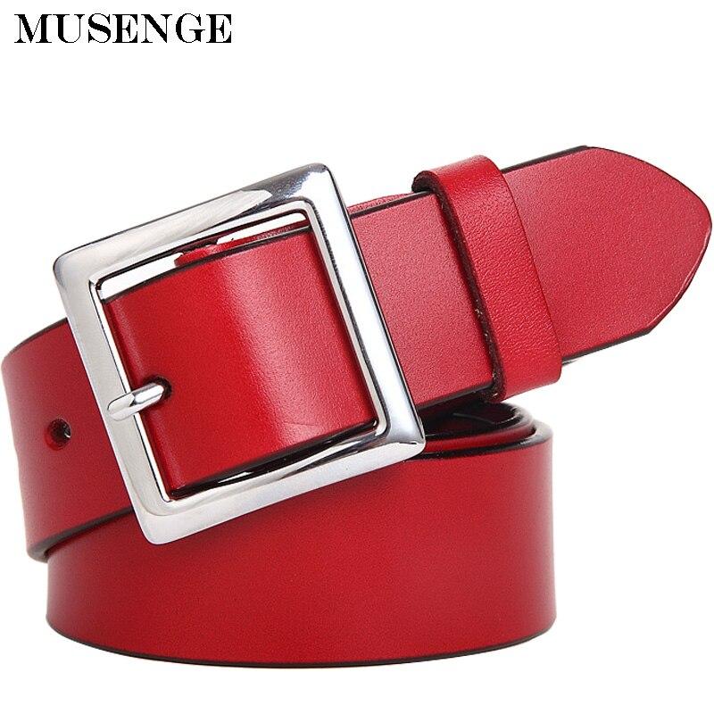 nueva llegada 3cb0e 0aef9 Cinturón de vestir ancho de cuero genuino de mujer cinturón blanco cinturon  cinturones de mujer para mujer jeans cinturones marca mujer cintura