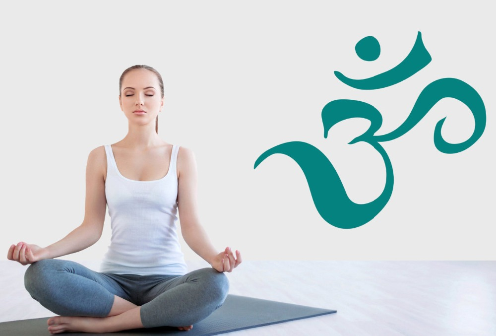 Retro Kühlschrank Yoga : Om zeichen hindu gott wandtattoo verkaufs yoga home meditation