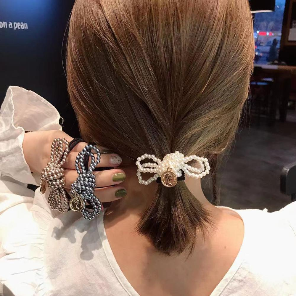 Hair Band Rubber Large Girl Elastic Head Rope Loop Ponytail Holder Accessories