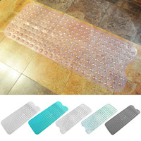 NC Long PVC Anti Slip Home Bathroom Safety Massage Bath Shower Mat with Strong Suction Cup Bathroom Supplies 39 x 16inch