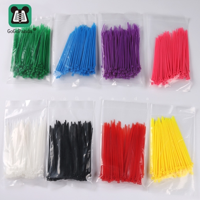 100Pcs/Lot 3*100mm Self-Locking Plastic Cable Zip Loop Ties Nylon Cable Ties for Wires Socks Neat and Orderly With One Color