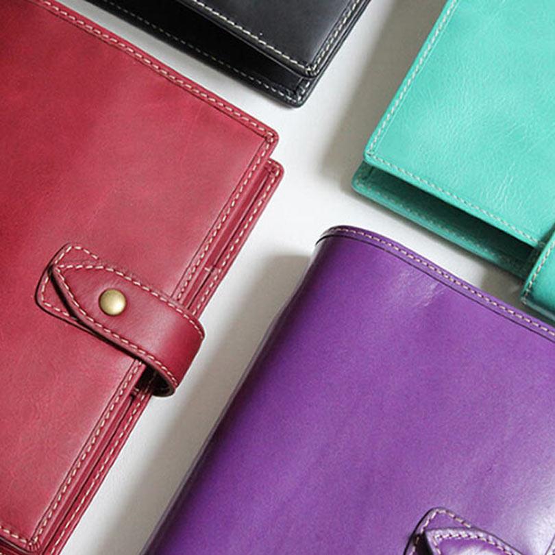 100% di Marca Del Cuoio Genuino Notebook A7 A6 A5 Notebook Sciolto Foglia Notebook Tasca Personale Partita