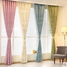 Window Curtain Free Shipping!Pastoral Korean Small Leaf Embroidery Homer Decor Curtains.