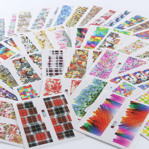 Image 2 - Mixed 48 Designs Nail Art Sticker Sexy Cute Colorful Full Decals DIY Water Transfer for Foils Polish Manicure A097 144