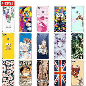 Silicone Case For Huawei p smart 2018 Case Cover Enjoy 7S Case For psmart 2018 Back Cover