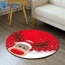 Christmas Children Suprise Play Mat Round Flannel Bathmat Area Rug Deer Snowman Santa ClausChair Mat Carpet For Living Room merry christmas snowman pattern indoor outdoor area rug