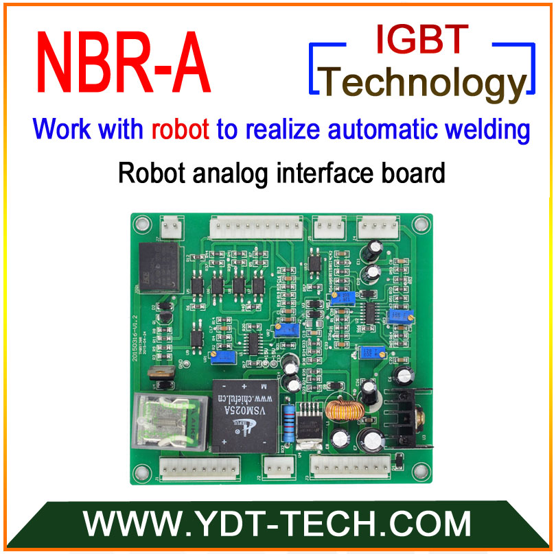 NBR A is the robot analog interface board work with gas shielded welding machine for automatic welding