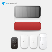 Etiger S8A Wireless Outdoor Solar Powered Strobe Siren Home Security Alarm Will works Independently