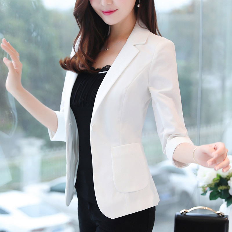 Fit Offce Size Summer Casual black Jackets pink light Women Navy Blazer 3xl Blue white 4xl Slim Sleeve Suits Blue Long Ma083 And Blazers Ladies Plus Thin Wear qvqaITw