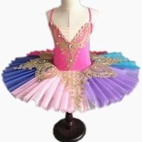 2019 New Adult Professional Ballet Tutus For Kids Swan Lake Ballet Dress Pancake Tutu Leotard Ballet Clothing For Girls
