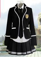 Girl outerwear set Korean school uniform Uniforme japonais Winter Uniforme escolar 2016 British style