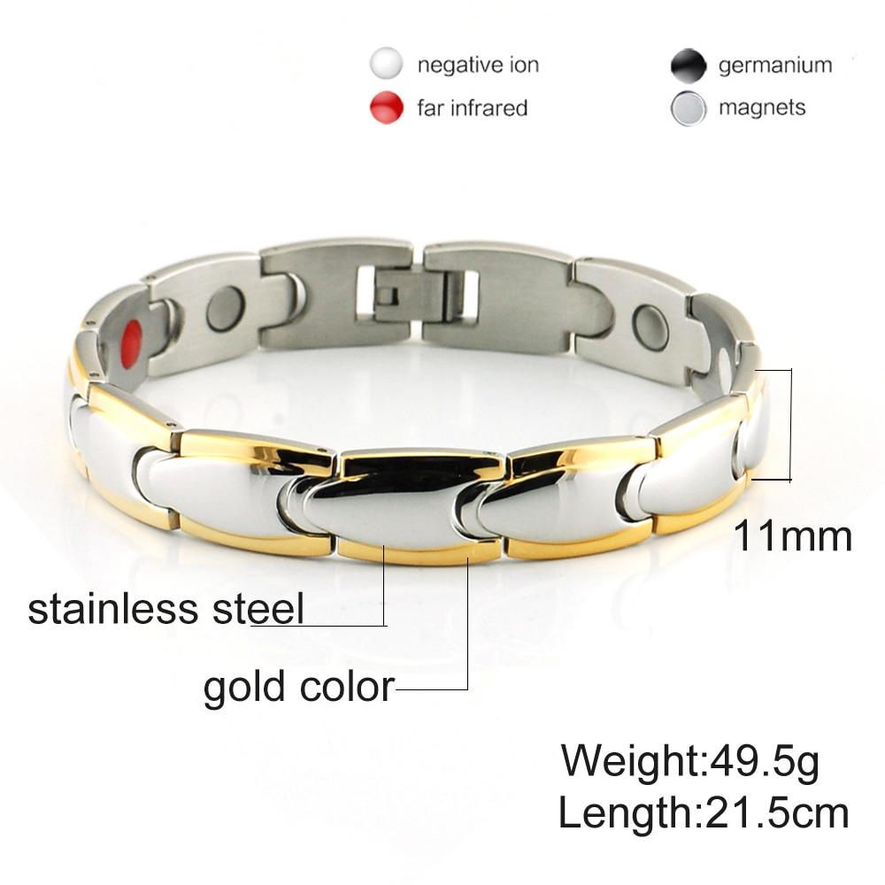 Vinter magnetiske armbånd mænd rustfrit stål magnet ion tysk - Mode smykker - Foto 2
