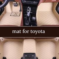 Only custom car floor mat for toyota Mark X Prius XW30 Prius Reiz Sienna Tundra Vios Fortuner Kluger CHR Tacoma Sai Wish etc