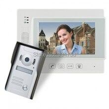 """7 """" TFT con conexión de cable timbre Video portero puerta de vídeo de seguridad cámara de infrarrojos 1V1"""