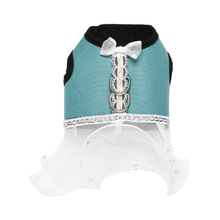 Pet Dog Oxford Fabric Chest Harness Dress Robe Dog Dress Beauty Girl Pet Clothes Wedding Princess Dress For Dogs Skirt Clothes