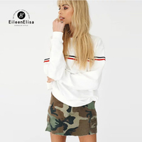 Eileen Elisa High Quality Women Hoodies 2017 Winter Autumn Neck Women Sweatshirt Pullover Casual Long Sleeve