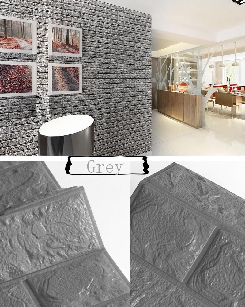 3D наклейки на кирпичную стену, водостойкие наклейки для гостиной, спальни, DIY, самоклеющиеся обои, искусство 60*30*0,8 см, настенные наклейки для дома