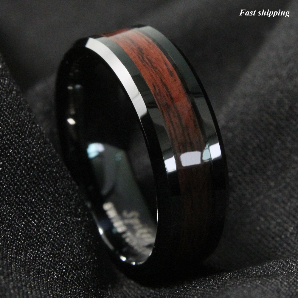 wood wedding bands wooden wedding bands mens Mens titanium wood wedding band The first outdoorsmen wedding band made with genuine